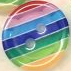 Small Rainbow Buttons